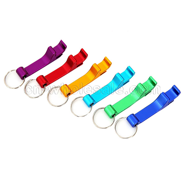 Promotional cheap Customized mini metal beer bottle opener keychain