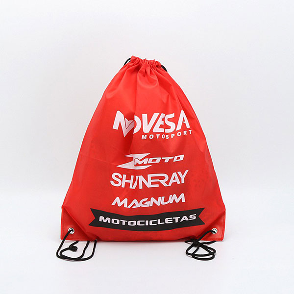 Custom 210D waterproof drawstring bag,drawstring bags with logo