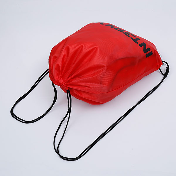 Wholesale reusable cheap polyester drawstring bag, drawstring sports bag