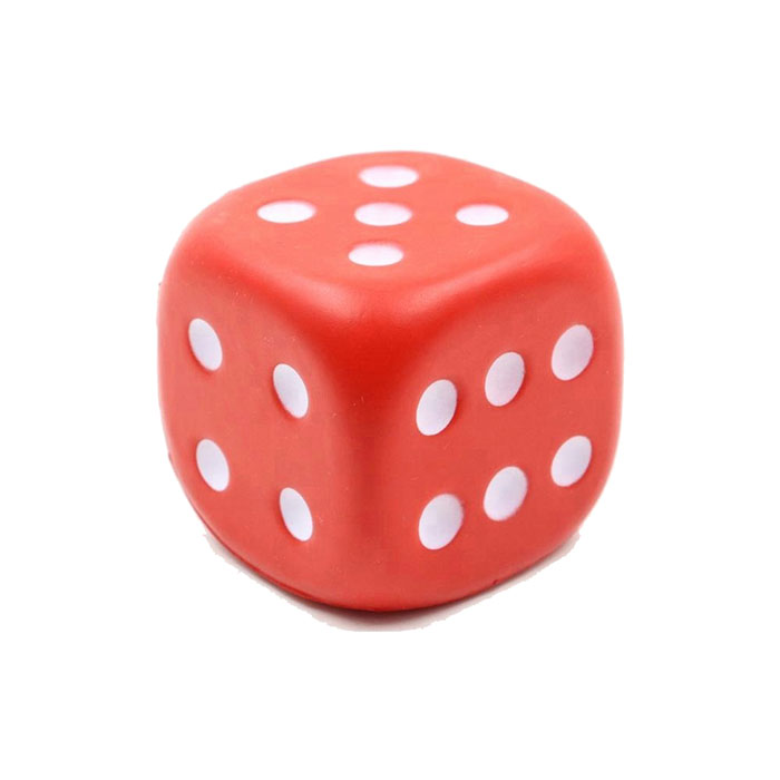 Custom Stress Ball Square Foam PU Cube Dice Stress Ball from China