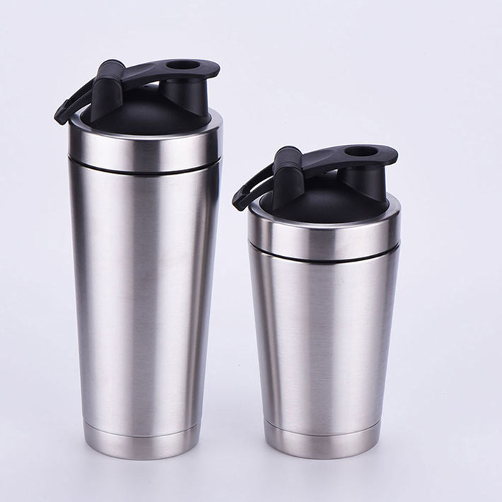 Wholesale Double wall insulated stainless steel protein shaker bottle